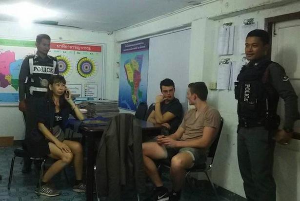 Die Burschen aus Südtirol auf der Polizeiwache