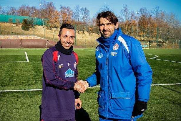 Julien Rantier mit Trainer William Viali