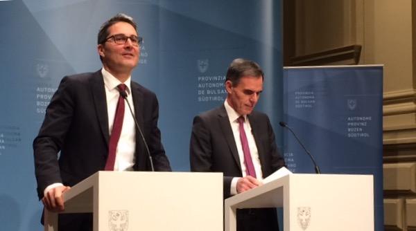 Arno Kompatscher und Richard Theiner