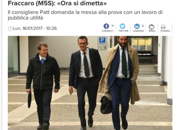Lorenzo Baratter am Montag (Screenshot: L'Adige)