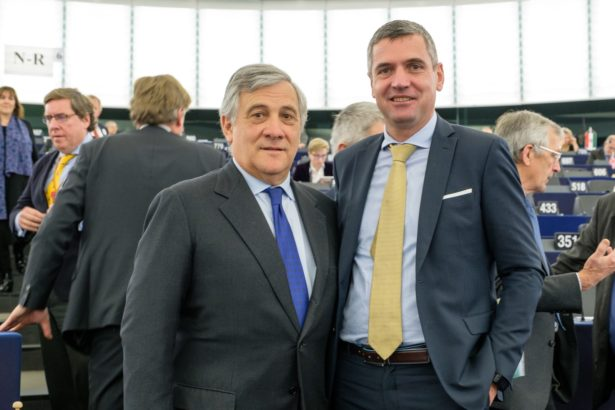 Antonio Tajani und Herbert Dorfmann