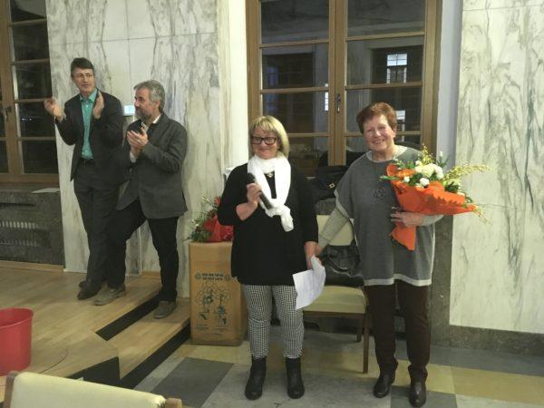 Von links: Stadtrat Stefan Frötscher, Bürgermeister Paul Rösch, Linda Sulzenbacher und Edeltraud Kofler.