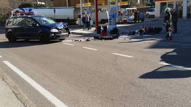 Unfall in Leifers (Foto: FF Leifers)
