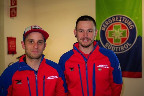 Die zwei neuen ausgebildeten Bergretter: Bernd Kusstatscher, Martin Christoforetti