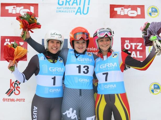 Das Podium im Damen-Rennen (Fotos: Leitner)