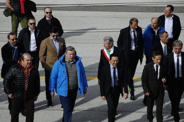 Die Ankunft der hochrangigen georgischen Delegation in Bozen
