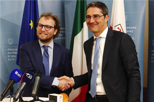 Minister Lotti mit LH Kompatscher