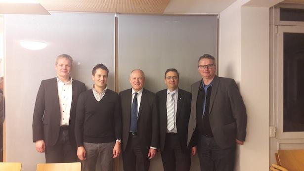 v.l. Philipp Moser, Daniel Schönhuber, Leo Tiefenthaler, Robert Alexander Steger und Joachim Reinalter