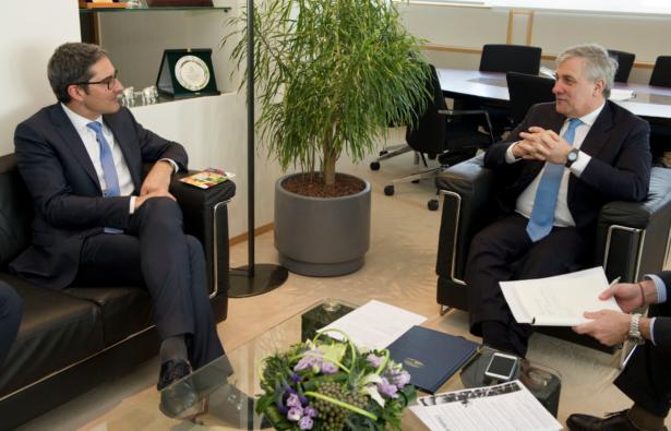 LH Kompatscher mit Präsident Tajani