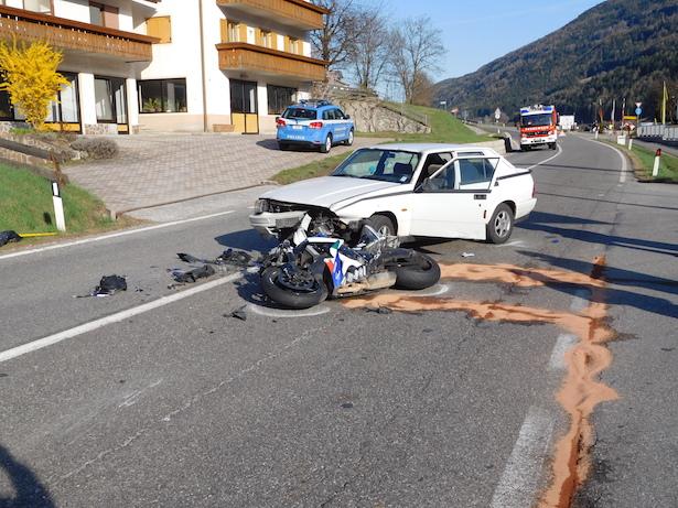 Unfall in Vintl (Foto: FF Obervintl)