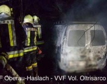 Autobrand in Bozen