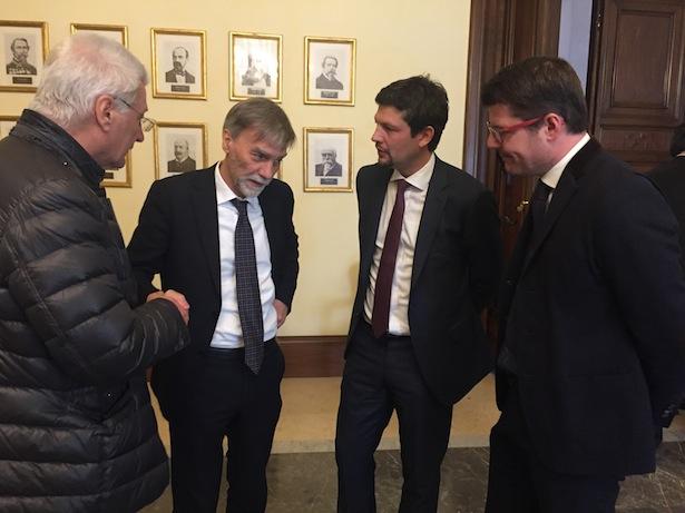 Ezio Facchin, Minister Graziano Delrio, Daniel Alfreider und Martin Ausserdorfer