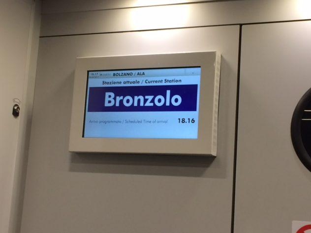 Ortsname nur in Italienisch