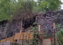 Eingestürzte Mauer