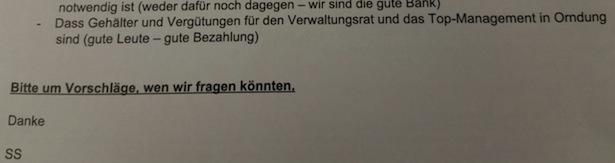 Die E-Mail von Stefan Schmidhammer: Kürzel SS