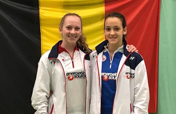Katharina Fink (U17) und Yasmine Hamza (U15) holen dritte Plätze bei Europa-Circuit in Antwerpen