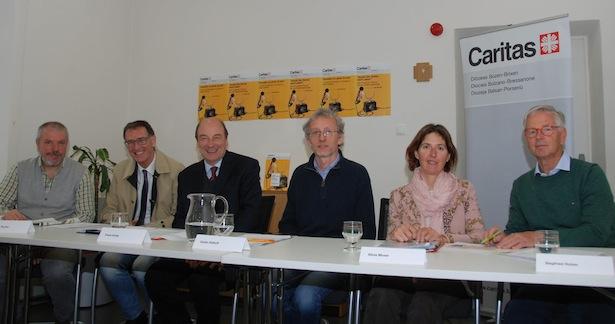 Paolo Valente, Roger Pycha, Franz Kripp, Guido Osthoff, Silvia Moser und Siegfried Holzer