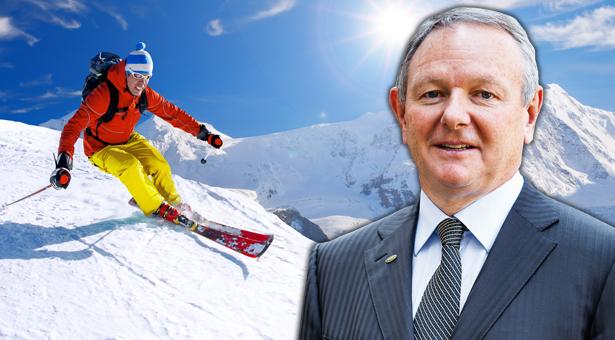 pinzger-skifahrer