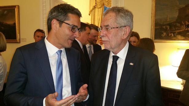 Arno Kompatscher mit Alexander Van der Bellen in Rom