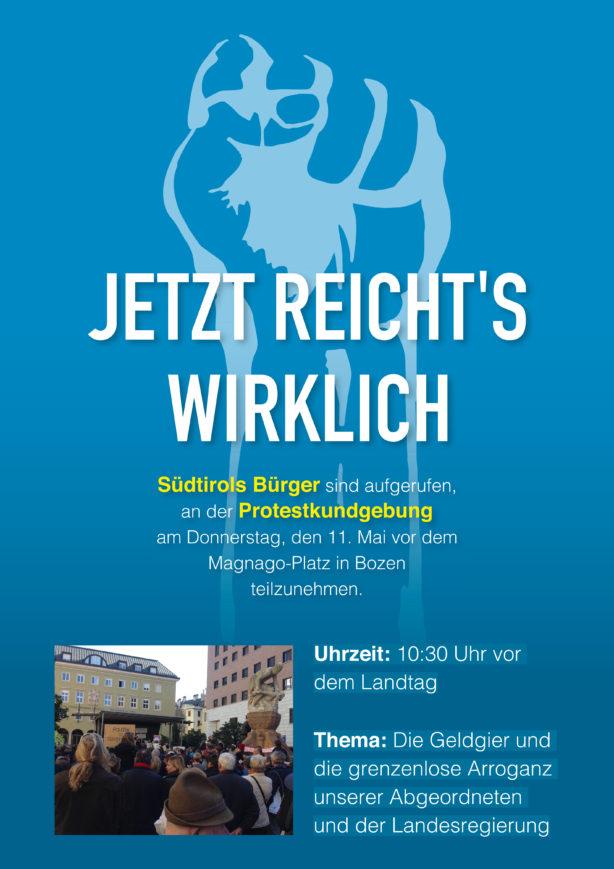 Landtag Demo Plakat.indd