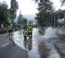 Crash mit Überschwemmung