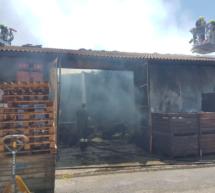 Brand in Zimmerei
