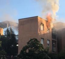 Wohnung in Flammen