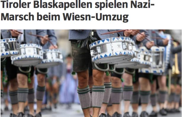 Wiesn: Tiroler Blaskapellen sorgen für Nazi-Eklat beim Oktoberfest in München
