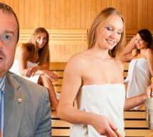 """""""Wurde in der Sauna angestarrt"""""""