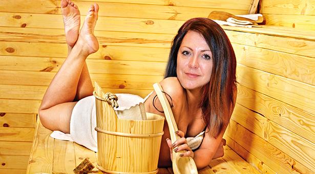 lespen in der sauna