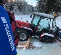 Traktor eingebrochen