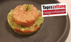 Lachstatar mit Guacamole