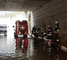 Überschwemmte Unterführung