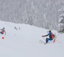 Verschneites Rennen