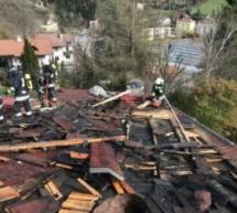 Dachstuhl in Brand