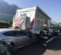 Auffahrunfall auf Autobahn