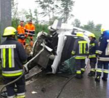 Crash mit Lieferwagen
