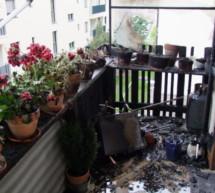 Brand auf Balkon