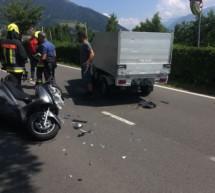 Scooter gegen Kleintransporter