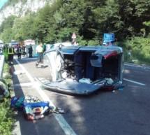 Vier Verletze nach Unfall