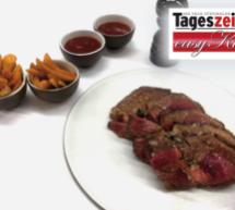 Tomahawk-Steak mit Wedges