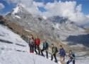 Oberschüler am Gletscher
