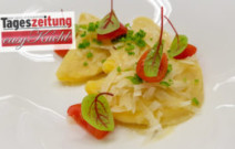 Teigtaschen mit Sauerkraut