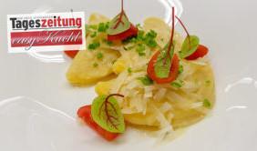 Kartoffelteigtaschen mit Sauerkraut