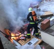 Brand auf Baustelle