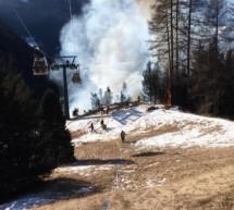 Brand unter Bergbahn