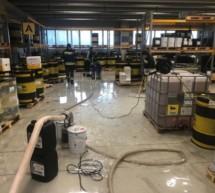 Industriehalle unter Wasser