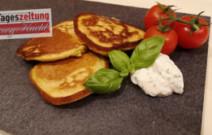 Pancakes mit Sauerrahm