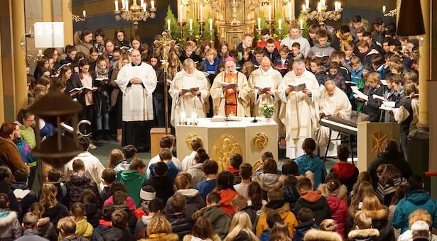 Bischof besucht Vinzentinum