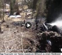 Waldbrand in Taisten